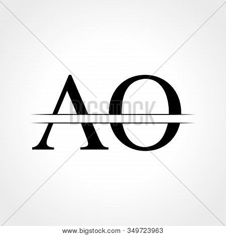 Initial Ao Letter Logo With Creative Modern Business Typography Vector Template. Creative Abstract L