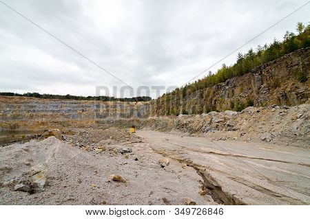 Part Of The Limestone Quarry Panorama, High Resolution And Details.