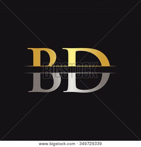 Initial Bd Letter Logo With Creative Modern Business Typography Vector Template. Creative Abstract L