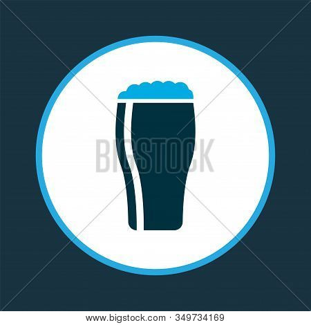 Glass Of Beer Icon Colored Symbol. Premium Quality Isolated Draught Element In Trendy Style.