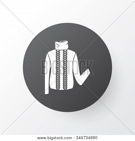 Turtleneck Sweater Icon Symbol. Premium Quality Isolated Pullover Element In Trendy Style.