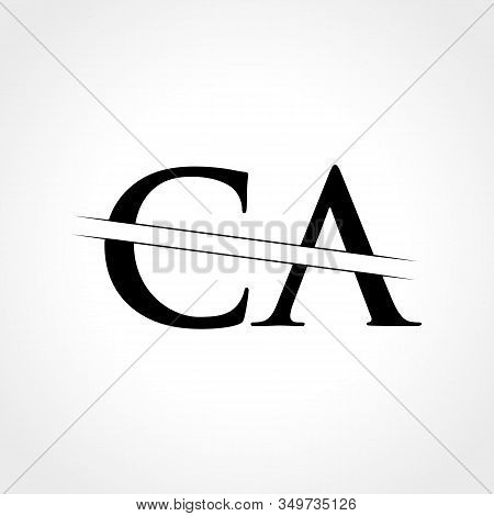 Initial Ca Letter Logo With Creative Modern Business Typography Vector Template. Creative Abstract L