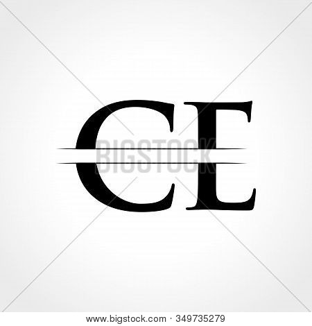 Initial Ce Letter Logo With Creative Modern Business Typography Vector Template. Creative Abstract L