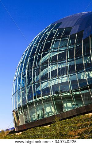 Gateshead, England - May 16:   The Iconic Glass And Steel Frontage Of The Sage, Gateshead A Centre F