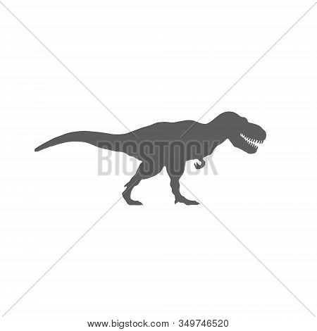 T-rex Silhouette Isolated On White Background. Vector