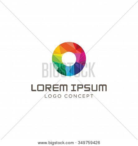 Colorful Modern Circle Logo Symbol Icon Stock Vector