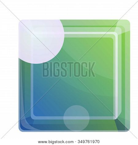 Topaz Gem Icon. Cartoon Of Topaz Gem Vector Icon For Web Design Isolated On White Background