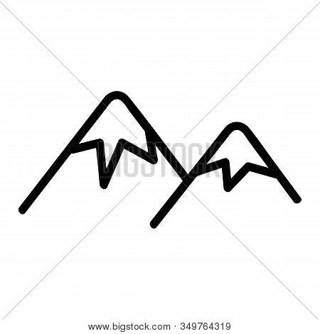 Mountain Ridge Icon Vector. Thin Line Sign. Isolated Contour Symbol Illustration