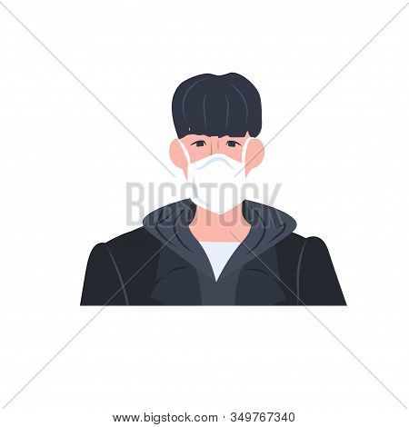 Man Wearing Mask To Prevent Epidemic Mers-cov Wuhan Coronavirus 2019-ncov Pandemic Medical Health Ri
