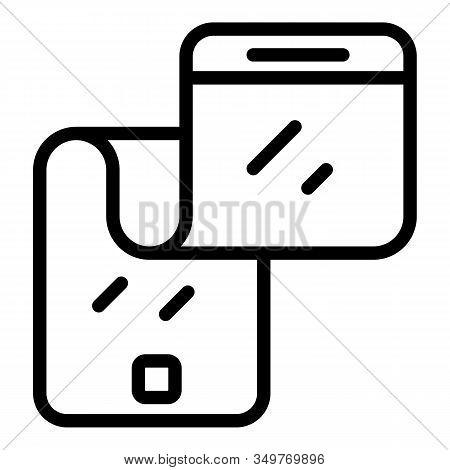 Future Flex Phone Icon. Outline Future Flex Phone Vector Icon For Web Design Isolated On White Backg