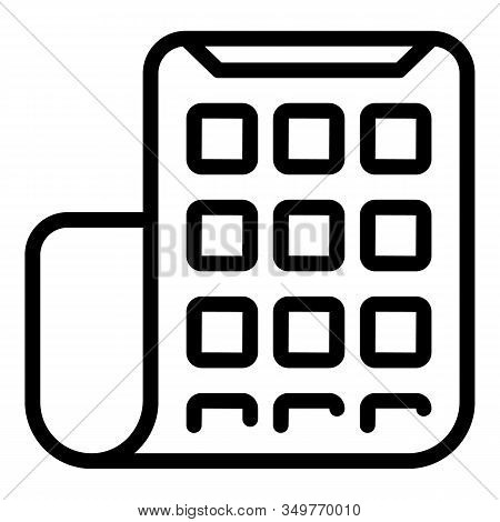 Flexible Display Icon. Outline Flexible Display Vector Icon For Web Design Isolated On White Backgro