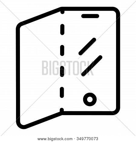 Touch Flex Screen Icon. Outline Touch Flex Screen Vector Icon For Web Design Isolated On White Backg