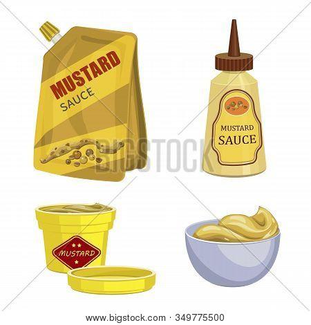 Mustard Icons Set. Cartoon Set Of Mustard Vector Icons For Web Design