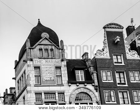 Amsterdam, Netherlands - Oct 19, 2006: Building Of Former Offices Of The Marine Insurance Company Li