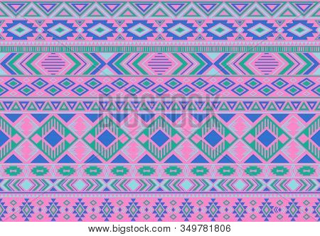 Indonesian Pattern Tribal Ethnic Motifs Geometric Seamless Vector Background. Awesome Indian Tribal
