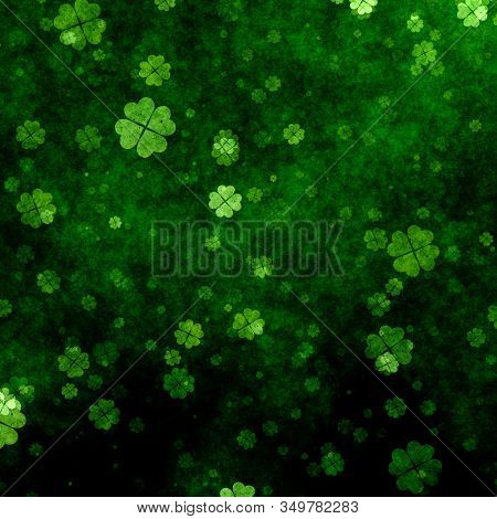 Grunge clover background for St Patricks Day