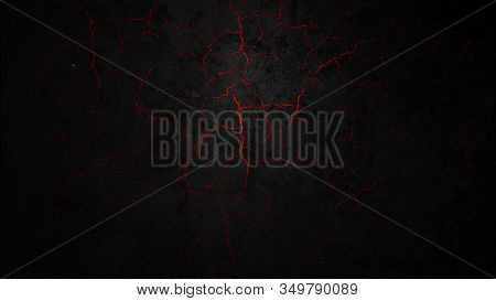 Dark Crack Wall Abstract Background. Wall Background Texture.