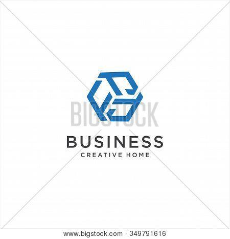 Abstract Hexagon Letter F Logo Design Vector Logotype . Line Hexagon Creative Simple Logo Design Tem