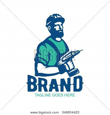 Modern And Illustrative Logo For A Carpentry Business, Woodworking, Handyman Business, Home Builders