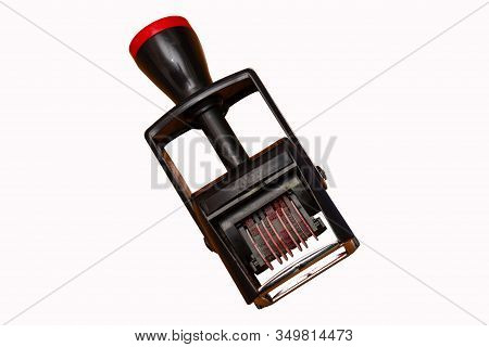 Border Date Stamper, Isolated On White Background. Border Crossing, Travel