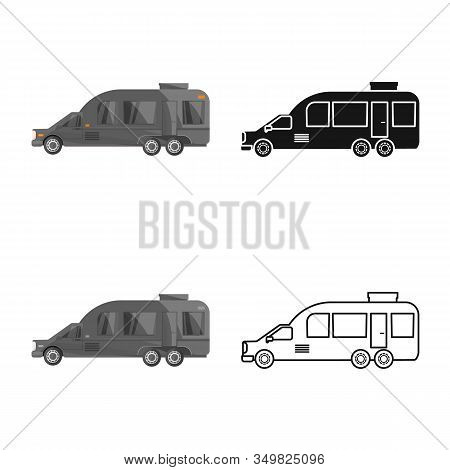 Vector Illustration Of Auto And Van Logo. Graphic Of Auto And Hearse Vector Icon For Stock.