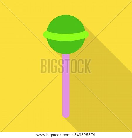 Isolated Object Of Lollipop And Cane Sign. Web Element Of Lollipop And Spiral Vector Icon For Stock.