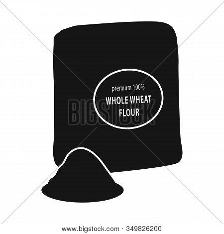 Vector Illustration Of Flour And Pack Logo. Collection Of Flour And Bag Vector Icon For Stock.