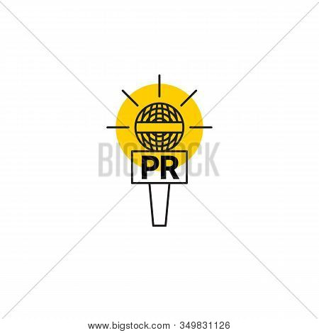 Microphone Icon, Pr Or News Symbol, Public Relations Icon, News Vector Sign