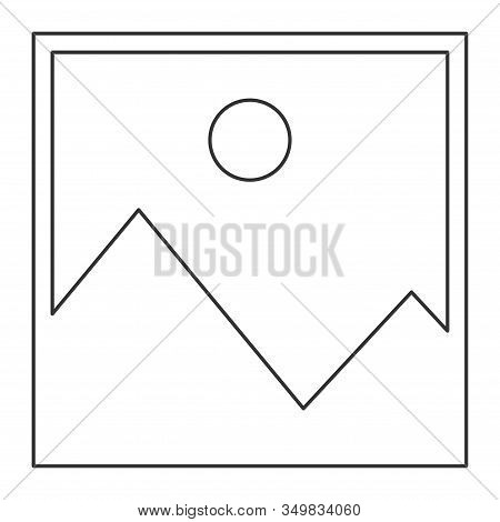 No Image Outline Vector Symbol, Missing Available Icon. No Gallery For This Moment