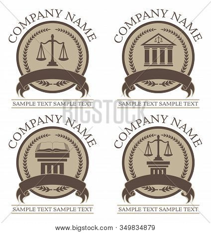 Law Or Lawyer Design Set Is An Illustration Of 4 Law Or Lawyer Seal Or Emblem Designs That Include G