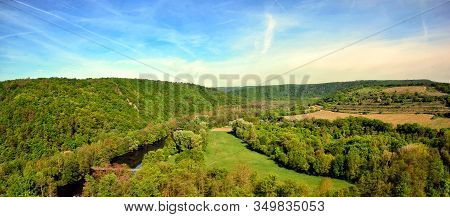 Panorama With Vineyard And Hills Spring Photography