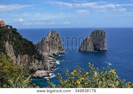 Typical Rocks In The Water And Nature Capri Island In Italy Photography