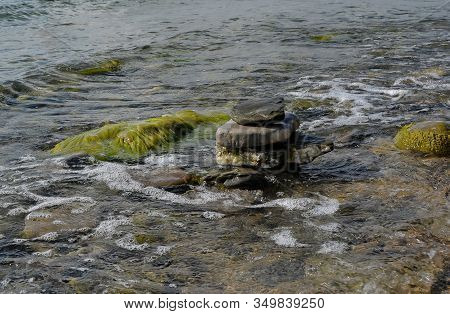 Big Rocks In Sea Water Nature Landscape Bulgaria