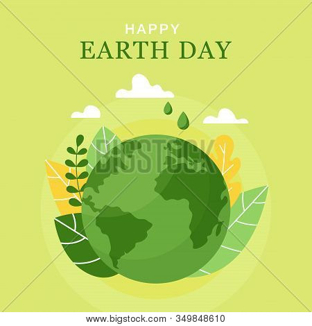 Happy Earth Day, 22 April. Vector World Map Vector Illustration. Concept Of The Earth Day. Planet, L