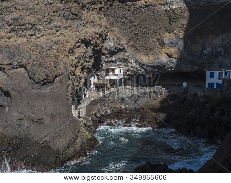 Cueva De Candelaria, Pirate Cave Poris De Candelaria, Small Hidden Fisherman Village With White And