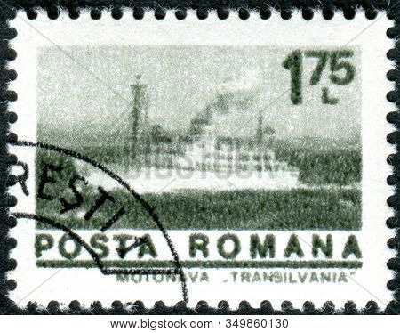 Romania - Circa 1974: A Stamp Printed In Romania, Depicted Liner