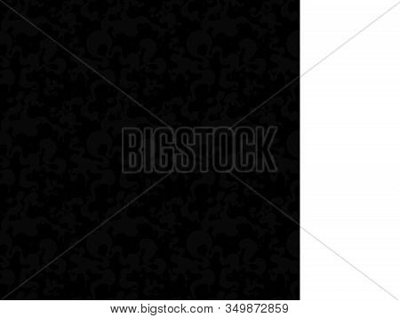 Total Black Pattern Of Splashes.gloomy Fog. Seamless Pattern.