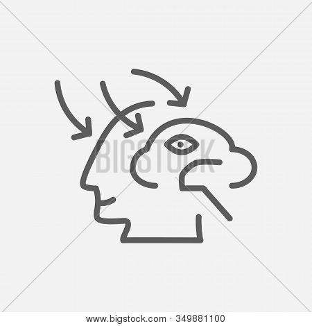 Perception Icon Line Symbol. Isolated Vector Illustration Of Icon Sign Concept For Your Web Site Mob