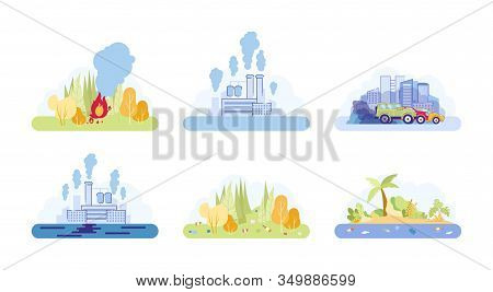 Human Impact Life On Poor Environmental Condition. Consequence Unconscious Human Life And Environmen