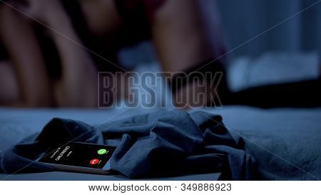 Girlfriend Calling While Male Cheating With Mistress, Unfair Relations, Betrayal