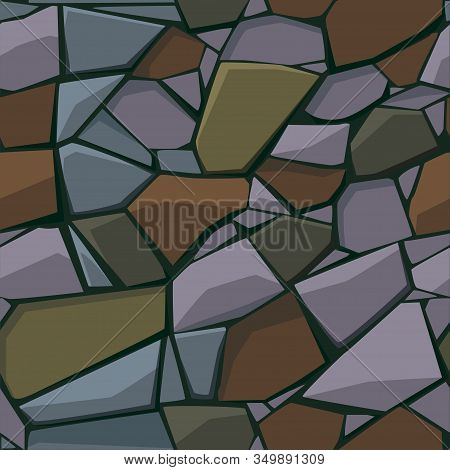 Seamless Texture And Background Of Paving Stone And Cobblestone.