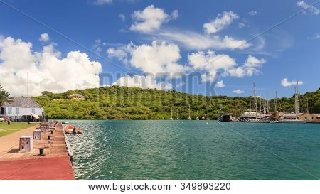 English Harbour, Antigua - November 6:  Nelsons Dockyard, Pictured On November 6, 2013, Is A Nationa