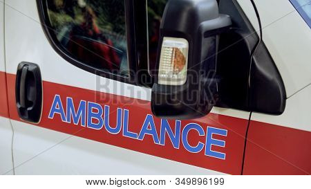 Ambulance Transport Closeup, Emergency Medical Services, Professional Help