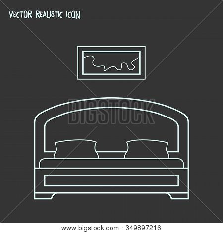 Bedroom Icon Line Element. Vector Illustration Of Bedroom Icon Line Isolated On Clean Background For