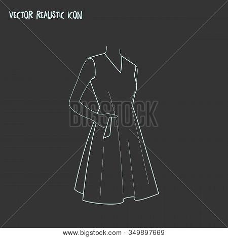 Sleeveless Dress Icon Line Element. Illustration Of Sleeveless Dress Icon Line Isolated On Clean Bac