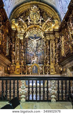 Lisbon - August 28, 2019: View Of The Chapel Of Our Lady Of Pieta Inside The Jesuit Church Of Saint