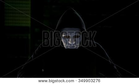 Anonymous Hacker Breaking Government Servers, Cyber Terrorism, Internet Security