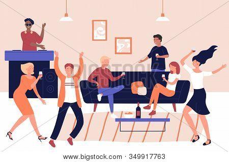 Disco Party, Discotheque, Holiday Celebration Vector Illustration