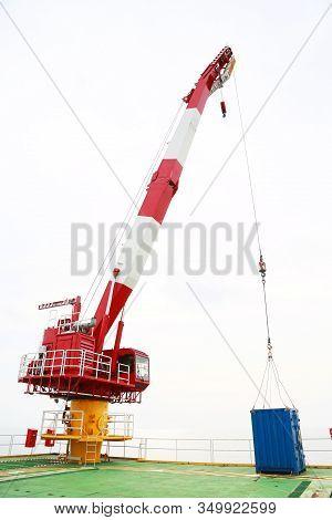 Crane Under Maintenance Routine Job By Crane Operator Or Technician, Fix And Service Crane With Prev