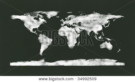 Chalkboard - Chalk World Map